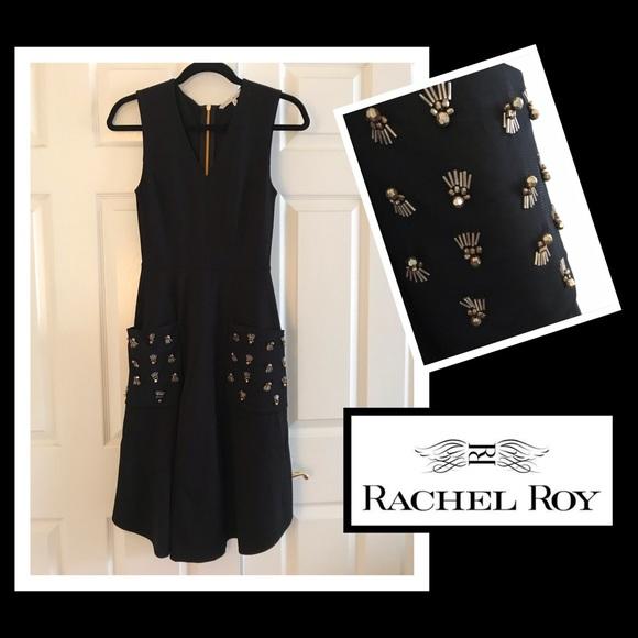 RACHEL Rachel Roy Dresses & Skirts - Rachel Roy Sleeveless embellishment Pocket dress